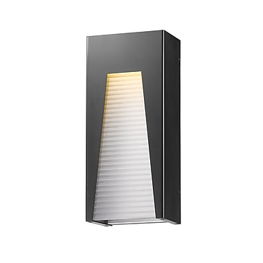 Z-Lite Millenial Outdoor Wall Light, Black, Frosted Ribbed Glass Shade (561B-BK-SL-FRB-LED)