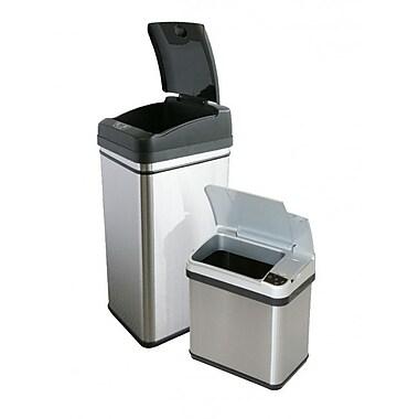 iTouchless – Ensemble poubelles avec capteurs, 13 et 2,5 gallons (CDZT1302SS)