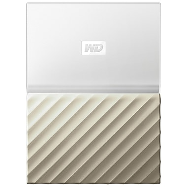 WD – Disque dur portable My Passport Ultra 4 To, blanc/or (WDBFKT0040BGD-WESN)