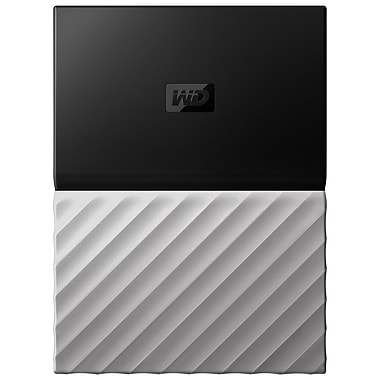 Western Digital My Passport Ultra 3 TB Portable Hard Drive, Black/Gray (WDBFKT0030BGY-WESN)