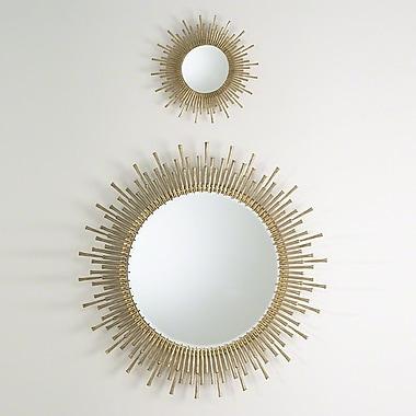 Global Views Spike Accent Mirror; Antique Brass