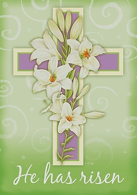 Toland Home Garden Easter Cross 2-Sided Garden Flag