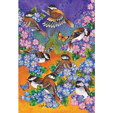 Toland Home Garden Chickadee Welcome 2-Sided Garden Flag