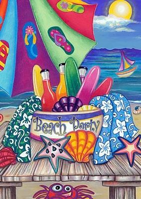 Toland Home Garden Beach Party Garden Flag