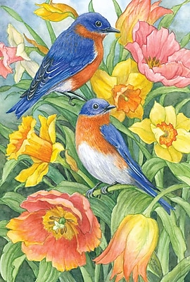 Toland Home Garden Eastern Bluebirds Garden flag