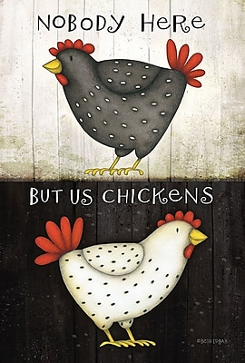 Toland Home Garden Nobody Here But Us Chickens 2-Sided Garden Flag
