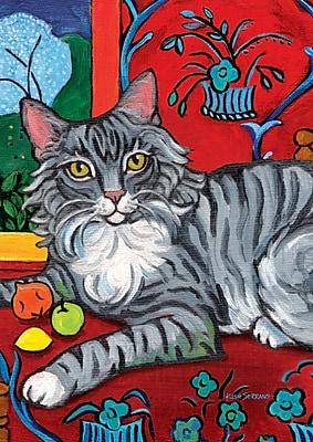 Toland Home Garden Cattise- Long Haired Tabby Garden flag