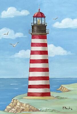 Toland Home Garden West Quoddy Head Lighthouse 2-Sided Garden Flag