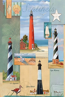 Toland Home Garden Sentinel Lighthouse Collage Garden Flag