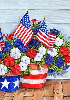 Toland Home Garden Patriotic Pansies 2-Sided Garden Flag