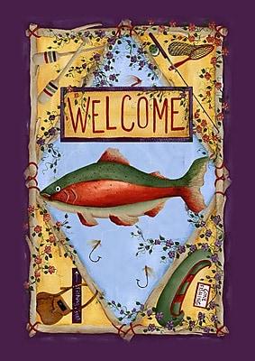 Toland Home Garden Rainbow Trout 2-Sided Garden Flag