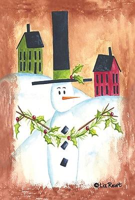 Toland Home Garden Snowman Garland Garden Flag
