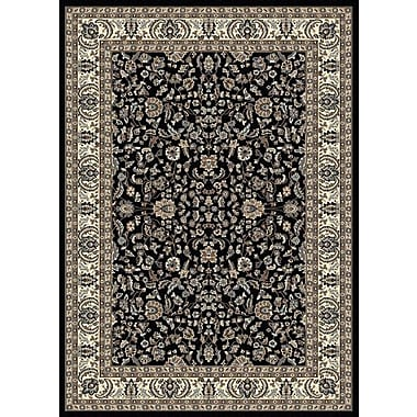 Astoria Grand Weiser Black Oriental Area Rug; 7'9'' x 11'