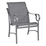 Woodard Ridgecrest Patio Dining Chair; Chocolate Flex Sling