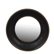 Ivy Bronx Braithwaite Metal Round Wall Accent Mirror; 21.88'' H x 21.88'' W x 3.5'' D