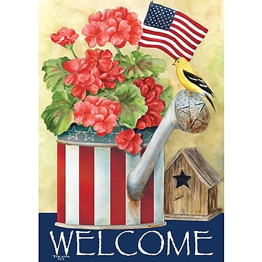 Toland Home Garden Patriotic Watering Can 2-Sided Garden Flag