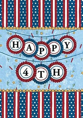 Toland Home Garden Happy Fourth 2-Sided Garden flag