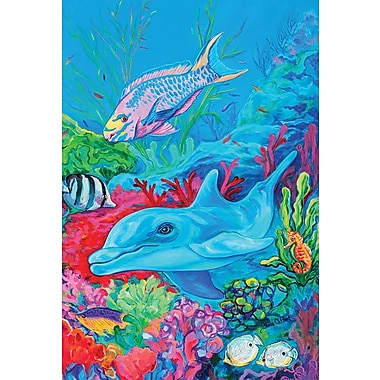Toland Home Garden Undersea Dolphin and Friends 2-Sided Garden Flag