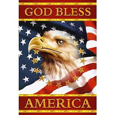 Toland Home Garden God Bless America Garden flag