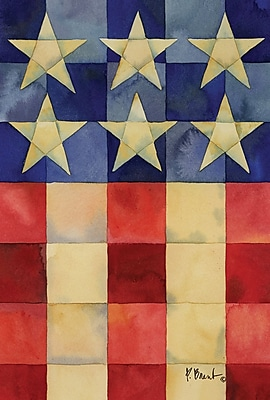 Toland Home Garden Stars and Stripes on Squares 2-Sided Garden Flag
