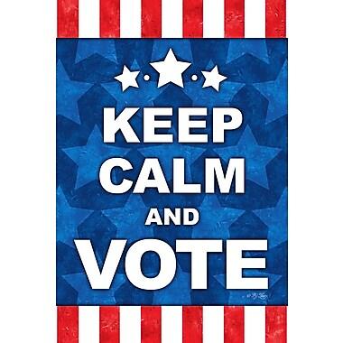 Toland Home Garden Keep Calm and Vote 2-Sided Garden Flag