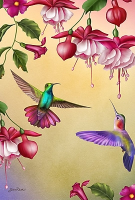 Toland Home Garden Thirsty Hummingbirds Garden Flag