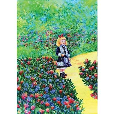 Toland Home Garden Renoir's Girl w/ Watering Can 2-Sided Garden Flag