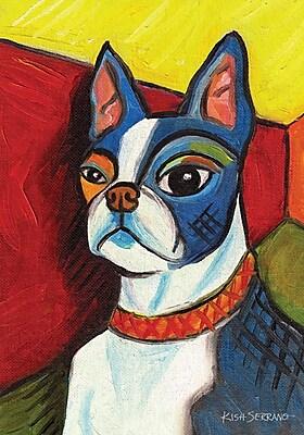 Toland Home Garden Pawcasso-Boston Terrier 2-Sided Garden flag