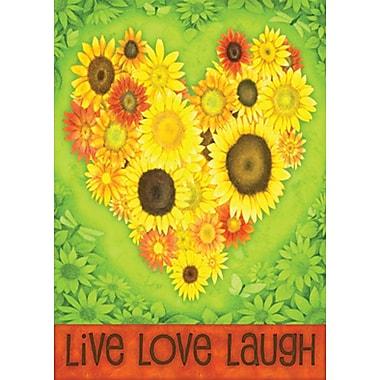 Toland Home Garden Sunflower Heart 2-Sided Garden flag