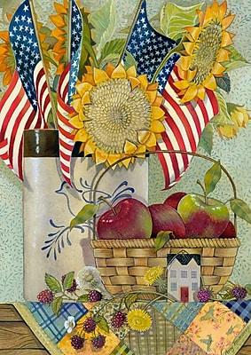 Toland Home Garden American Sunflower Garden Flag