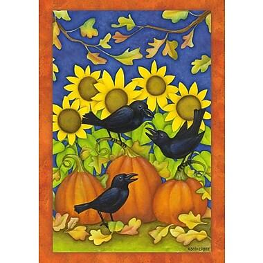 Toland Home Garden Fall Crows Garden Flag