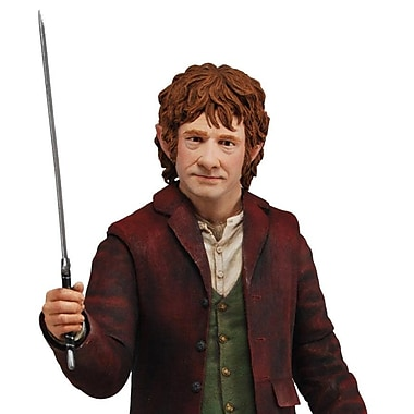 NECA – Figurine de Bilbo Baggins à échelle 1/4, du film The Hobbit