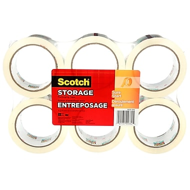 3M Scotch Storage/Packaging Tape with Sure Start, 1.88