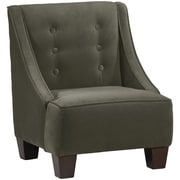 Harriet Bee Backstrom Kids Velvet Chair; Pewter