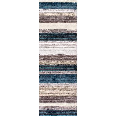 Latitude Run Sepulveda Hand-Tufted Blue/Brown Area Rug; 5' x 8'