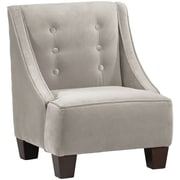 Harriet Bee Backstrom Kids Velvet Chair; Light Gray