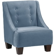 Harriet Bee Backstrom Kids Velvet Chair; Ocean