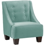 Harriet Bee Backstrom Kids Velvet Chair; Caribbean