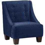 Harriet Bee Backstrom Kids Velvet Chair; Navy