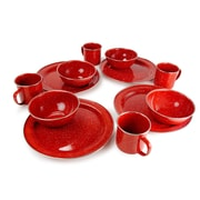 Loon Peak Aletha 12 Piece Dinnerware Set, Service for 4 (Set of 12); Red