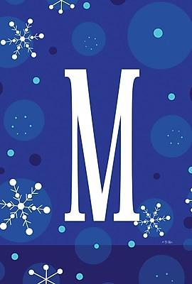 Toland Home Garden Winter Snowflakes Monogram Garden flag; M