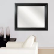 Darby Home Co Kimbolton Brushed Black Ridged Beveled Mirror