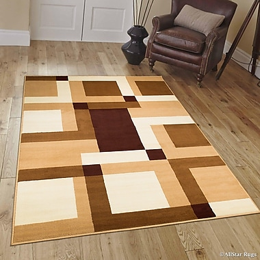 Ebern Designs Bernardino Brown/Beige Area Rug; 7'7'' x 10'6''
