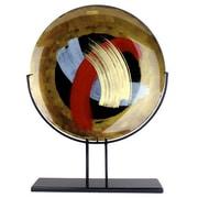Bloomsbury Market Leeja Round Decorative Platter w/ Metal Stand