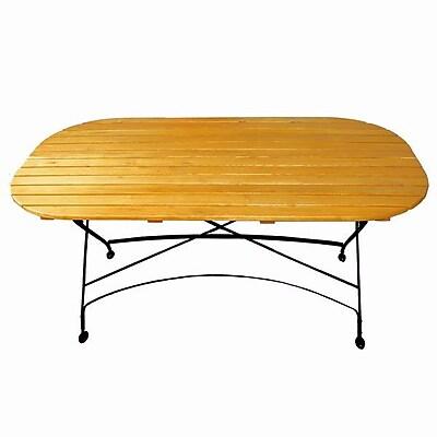 August Grove Dowe Folding Oval Table; No