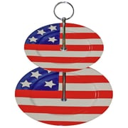 August Grove Enora Patriotic Plate 2 Tiered Stand
