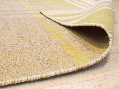 August Grove Chelton Hand-Woven Wool Yellow Area Rug; 8' x 10'