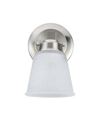 Charlton Home Fairoaks Metal 1-Light Bath Sconce; Satin Nickel