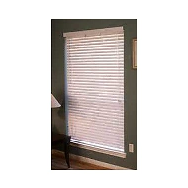 Ebern Designs Room Darkening White Venetian Blind; 32.25'' W x 48'' L
