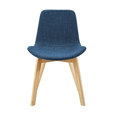 George Oliver Vanwingerden Suede Side Chair (Set of 2); Blue